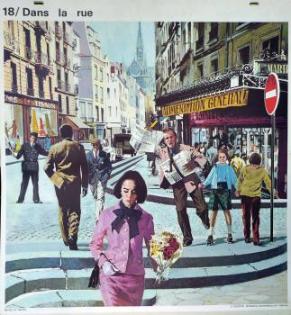 1960's French School Poster - In the Street/The Postman