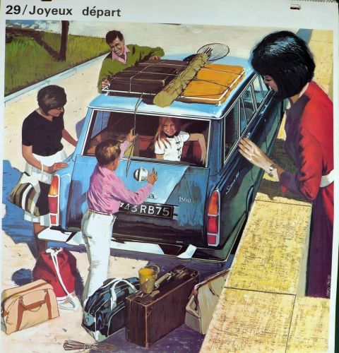 1960's French School Poster - A Merry Departure/Happy Holidays