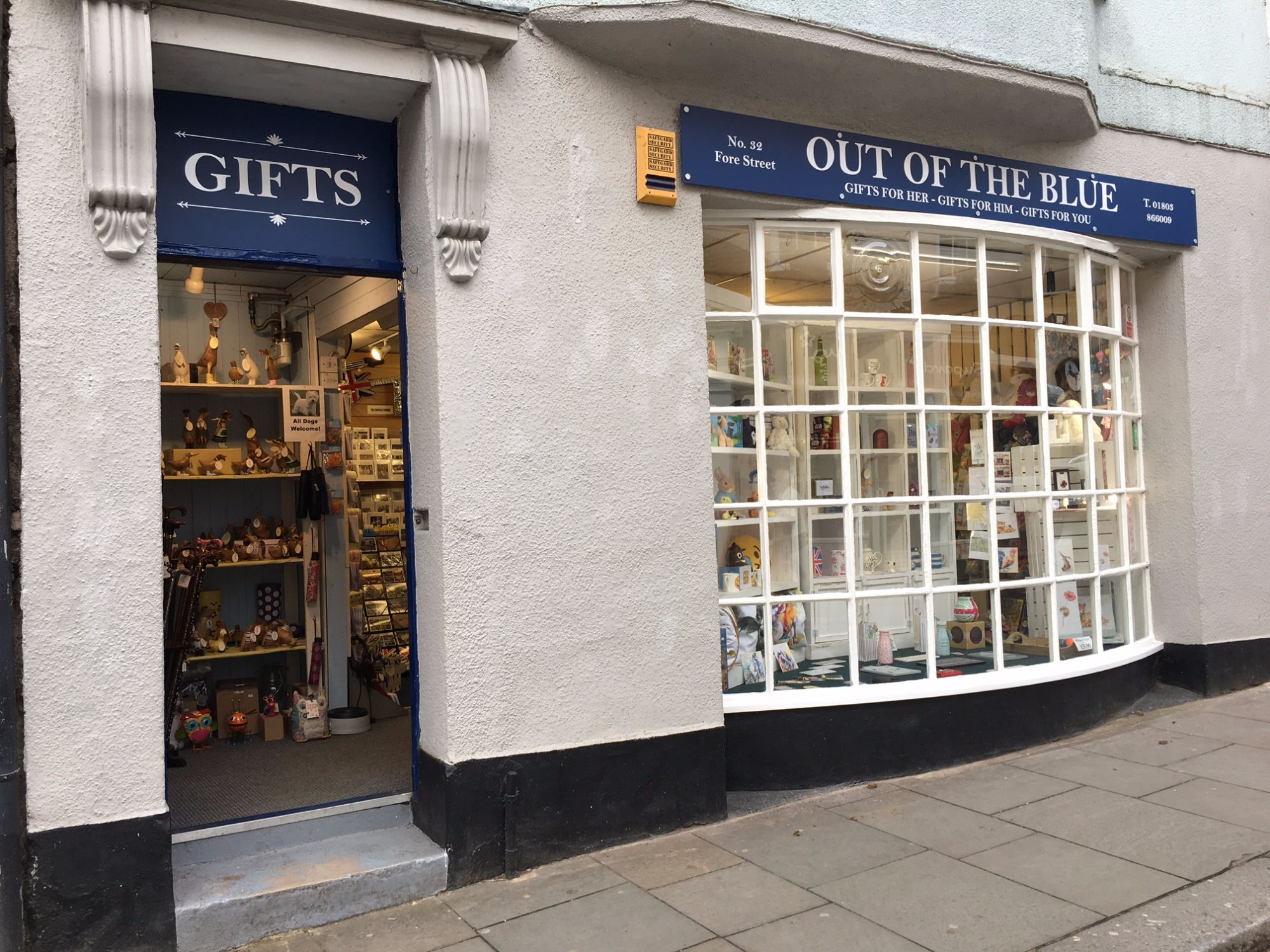 Out of the Blue Gift Shop in Totnes