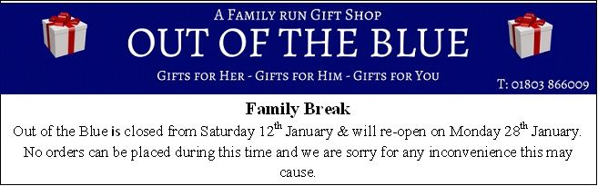 Out of the Blue Totnes Gifts for Her Gifts for Him Gifts for You