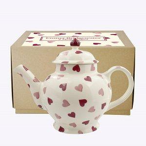 Emma Bridgewater Pink Hearts 4 Mug Teapot