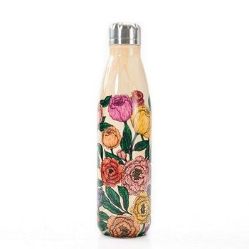 Eco Chic The Bottle - Beige Peonies