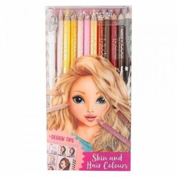 TOPModel Skin and Hair Coloured Pencil Set