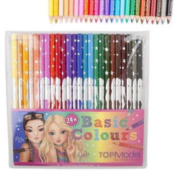 TOPModel 24 Basic Colouring Pencils