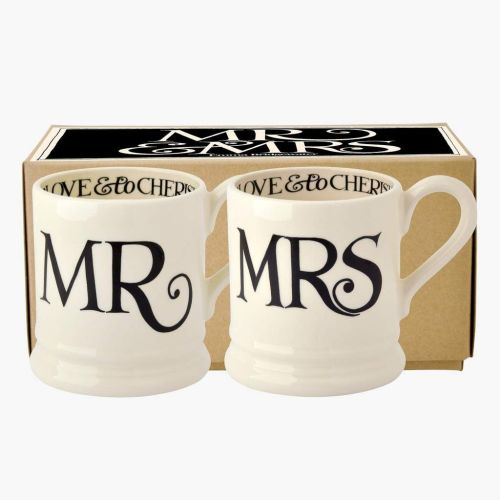 Emma Bridgewater Mr and Mrs Half Pint Mugs