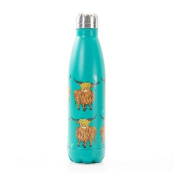 Eco Chic The Bottle - Teal Highland Cow