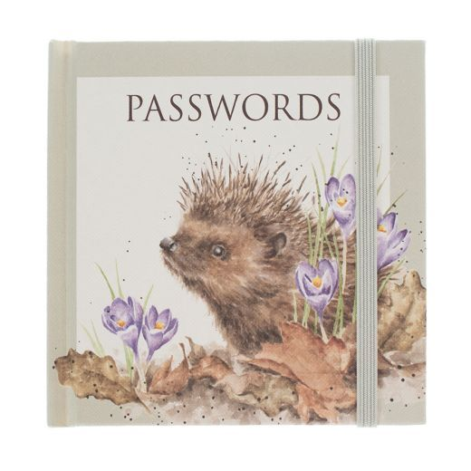 Wrendale Designs Hedgehog New Beginnings Password Book