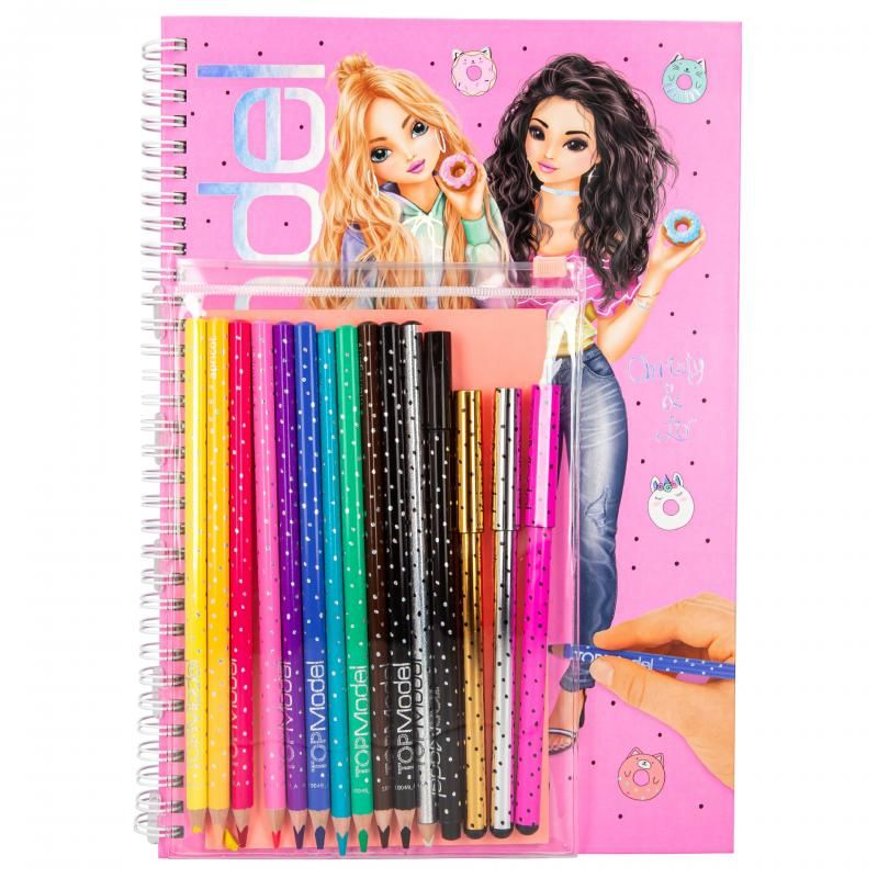 TOPModel Colouring Book with Pencil Set