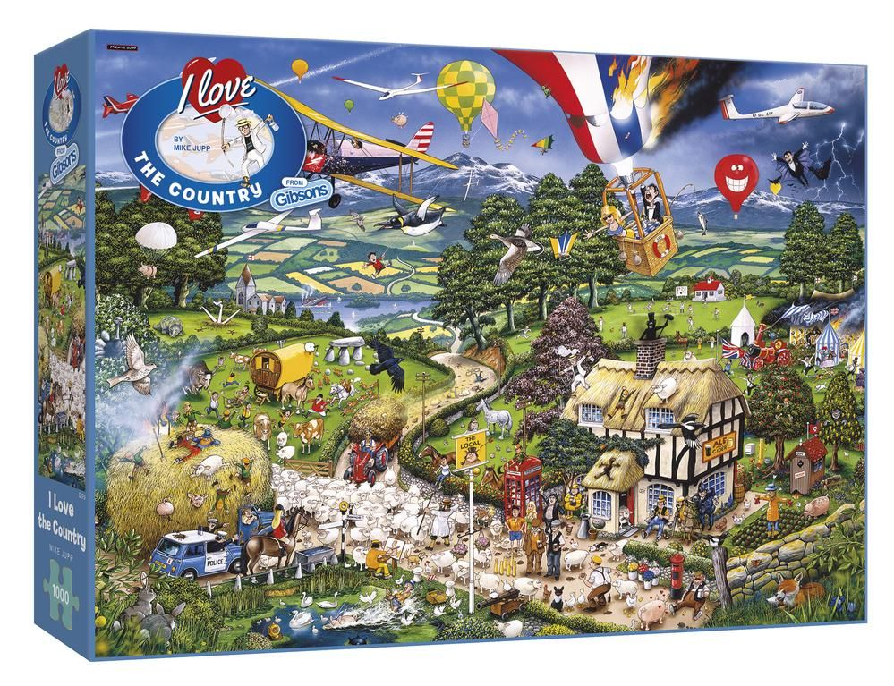 Gibsons I Love The Country 1000 Piece Jigsaw Puzzle