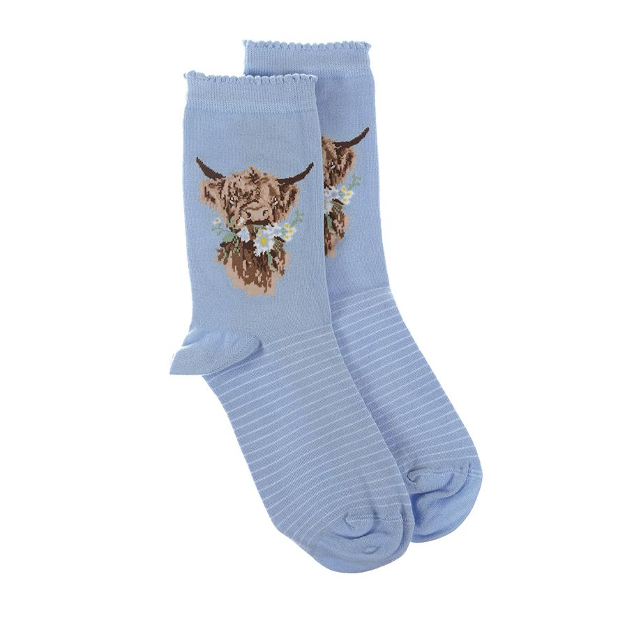 Wrendale Designs Daisy Coo Highland Cow Socks
