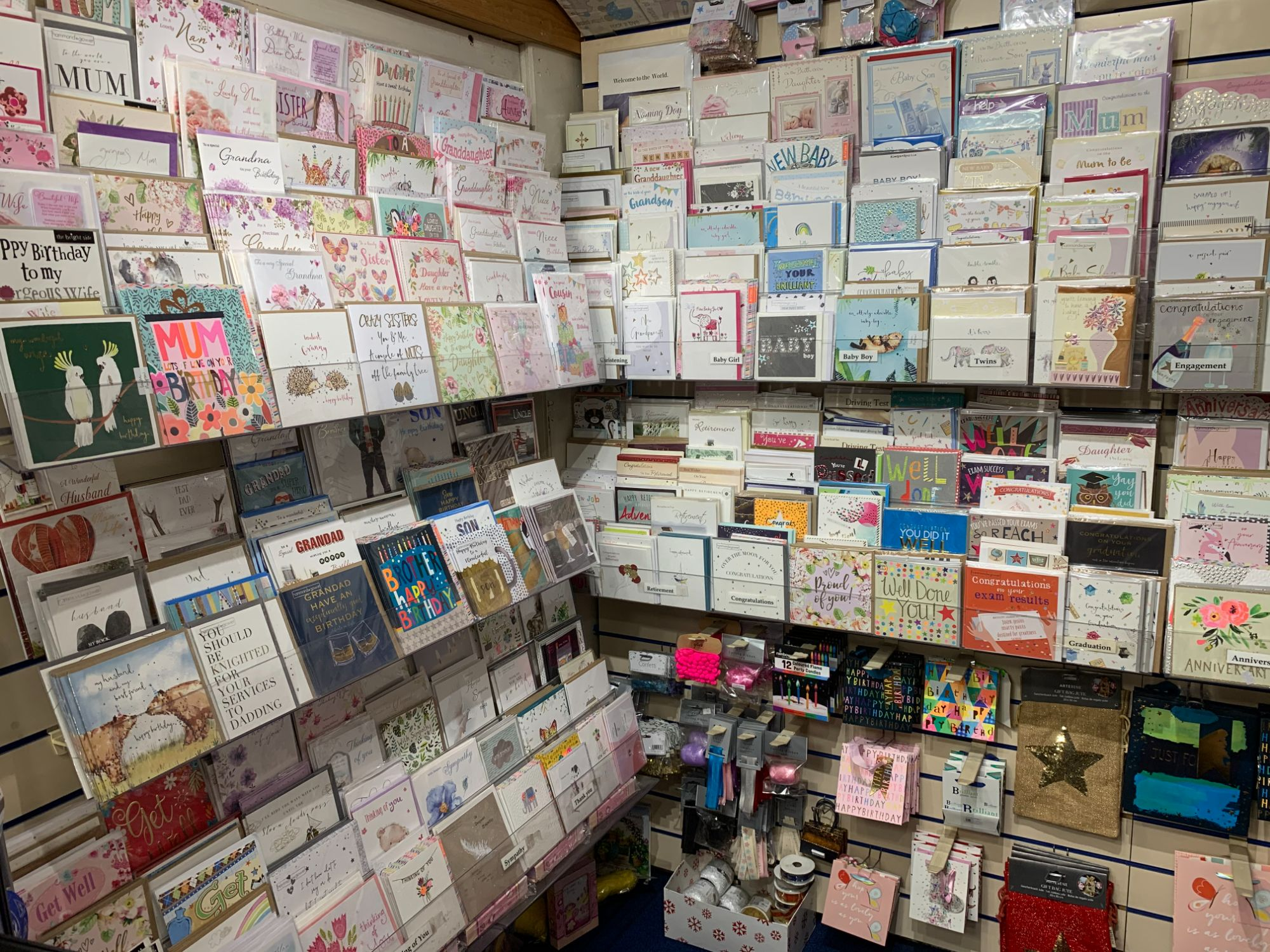 Cards at Out of the Blue  Totnes
