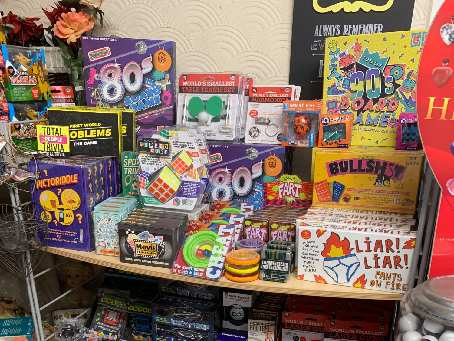Fun and  Games Gifts at Out of the Blue Totnes
