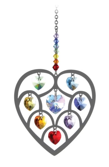 Wild Things Pure Radiance Large Heart of Hearts Crystal - Chakra