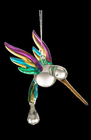 Wild Things Fantasy Glass Flying Hummingbird - Tropical