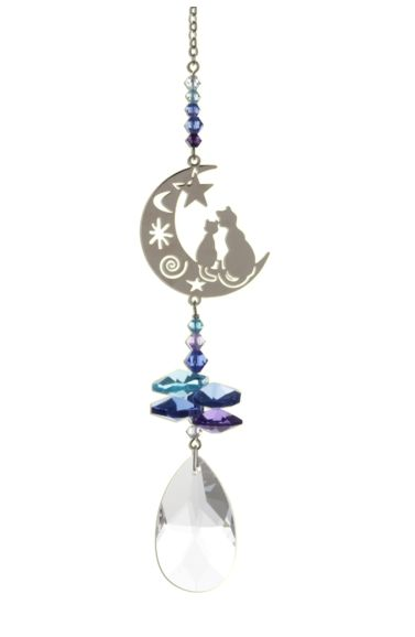Wild Things Crystal Fantasies Two Cats - Moonlight