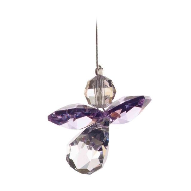 Wild Things Classic Crystal Guardian Angel - Light Amethyst