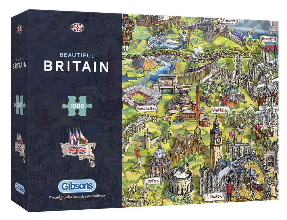 Gibsons Beautiful Britain 1000 Piece Jigsaw Puzzle