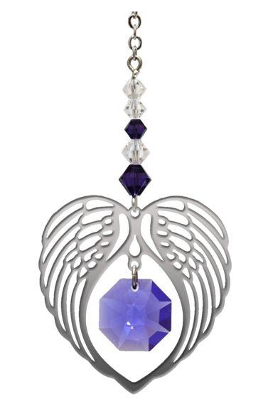 Wild Things Birthstone Angel Wing Heart - Amethyst