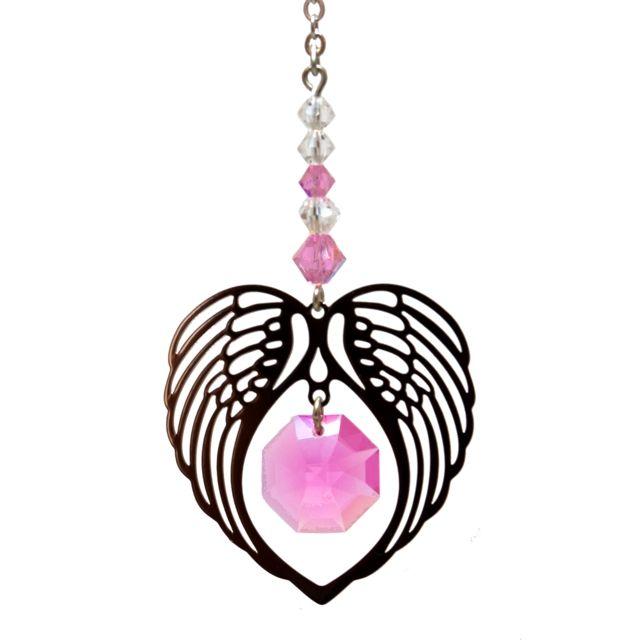 Wild Things Birthstone Angel Wing Heart - Rose