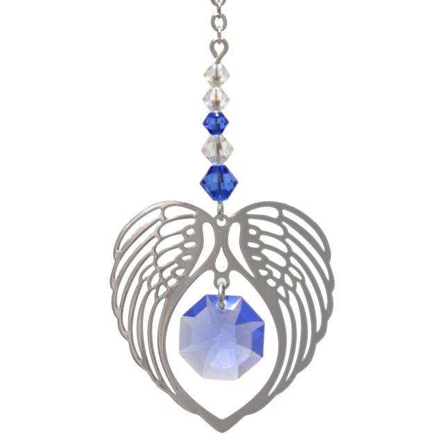 Wild Things Birthstone Angel Wing Heart - Sapphire