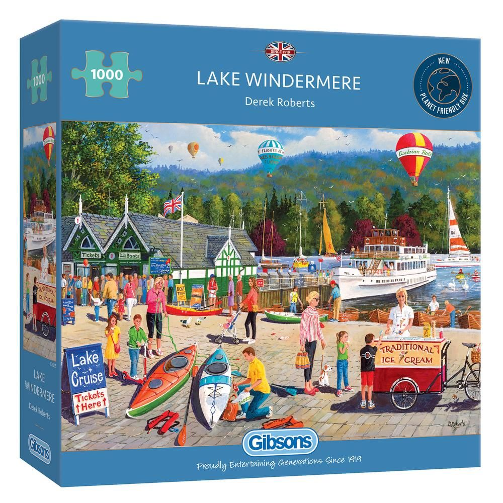 Gibsons Lake Windermere 1000 Piece Jigsaw Puzzle