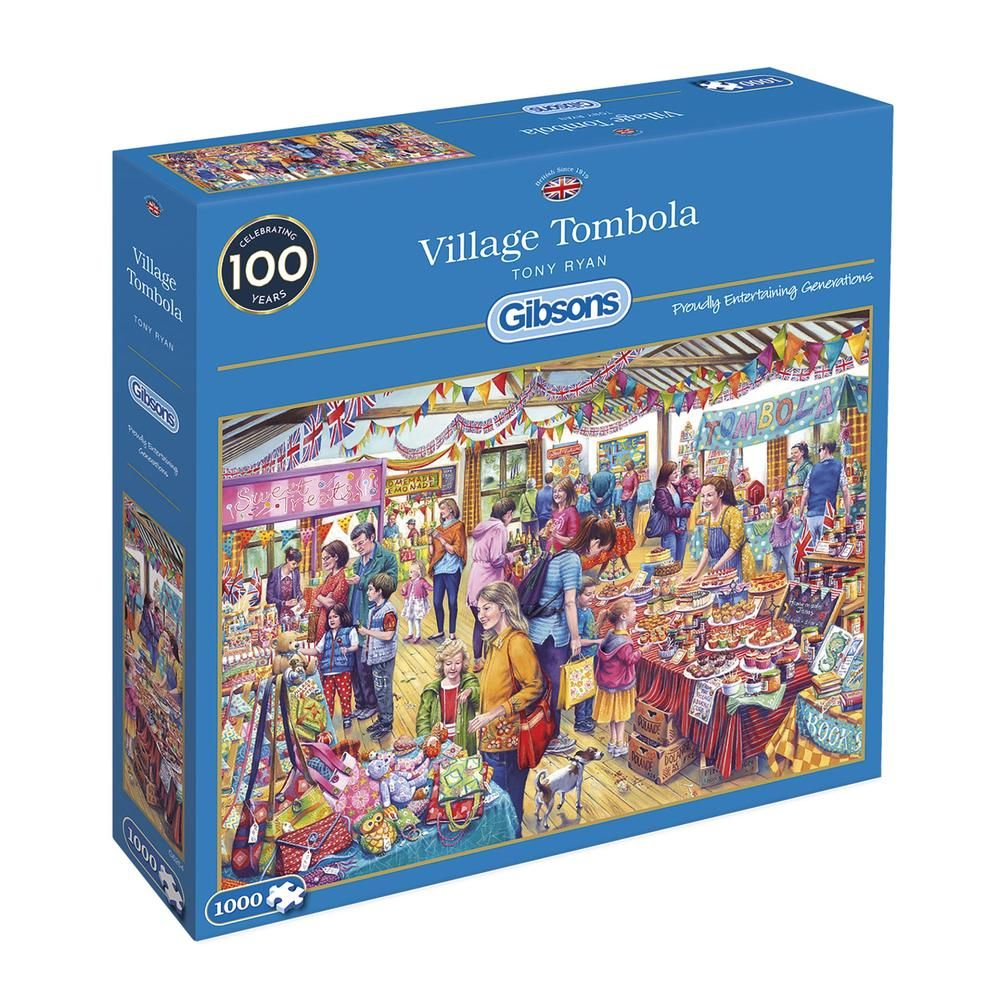 Gibsons Village Tombola 1000 Piece Jigsaw Puzzle