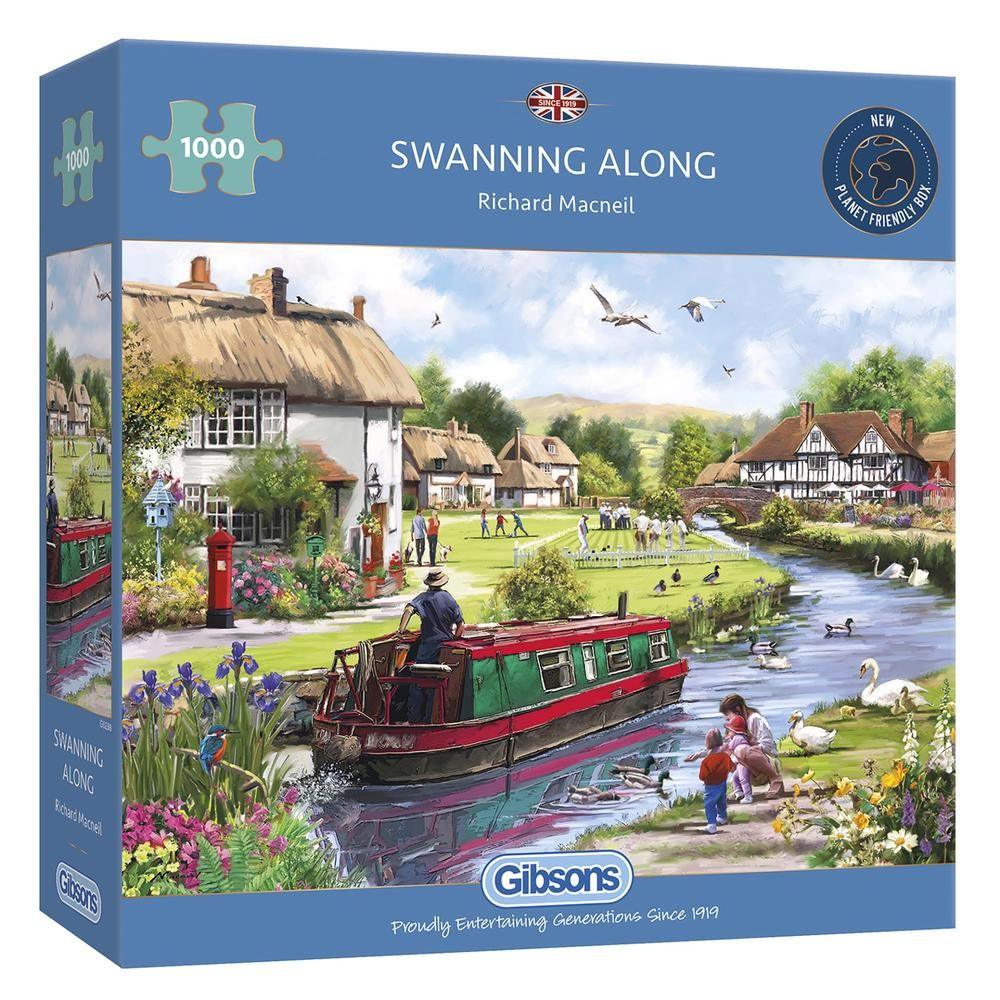 Gibsons Swanning Along 1000 Piece Jigsaw Puzzle