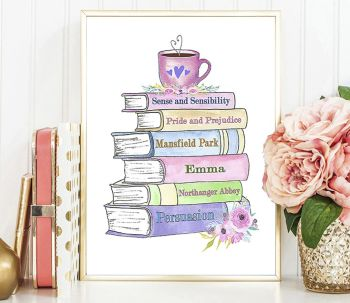Jane Austen Print, Gifts for Book Lovers
