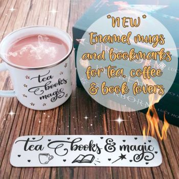 new enamel mugs and booksmarks for website promo