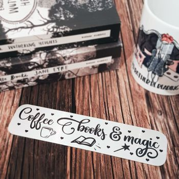 coffee books and magic bookmark