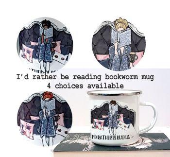 reading in bed enamel mug mock multi pic