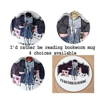 Bookworm Coaster- I'd Rather Be Reading