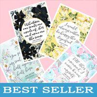 Jane Austen, Emily Bronte and Charlotte Bronte literary prints