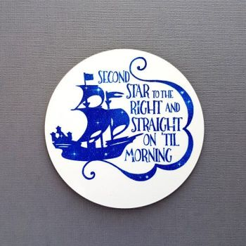 Peter Pan Coaster - Second Star To The Right Quote