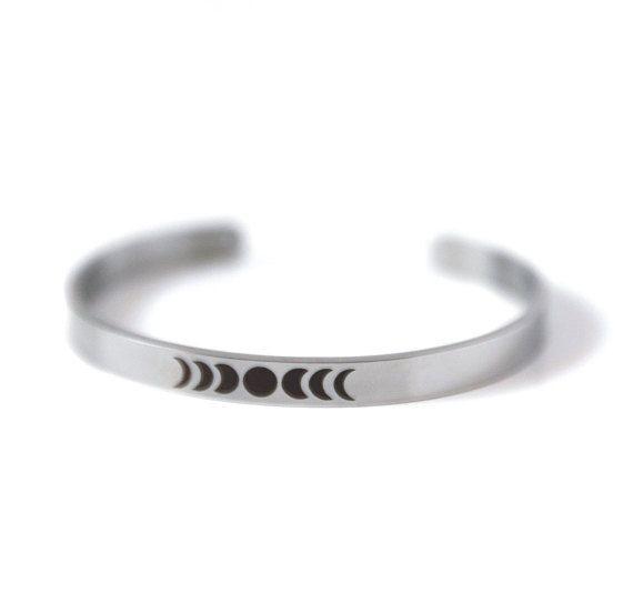 Moon Phase Bracelet Cuff