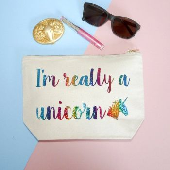 Unicorn Quote Make Up Case, I'm Really A Unicorn