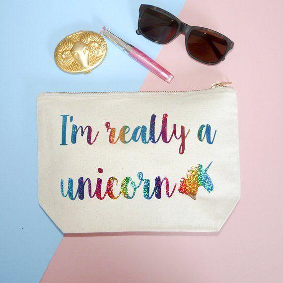 Unicorn Quote Make Up Case, I'm Really A Unicorn