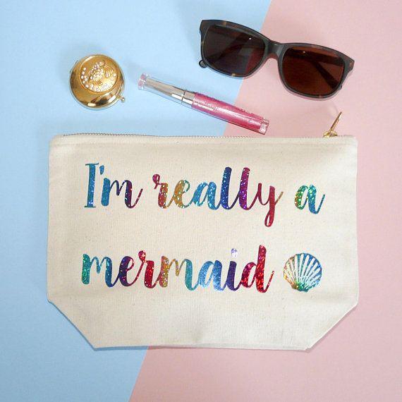 Mermaid Make Up Case, I'm Really A Mermaid