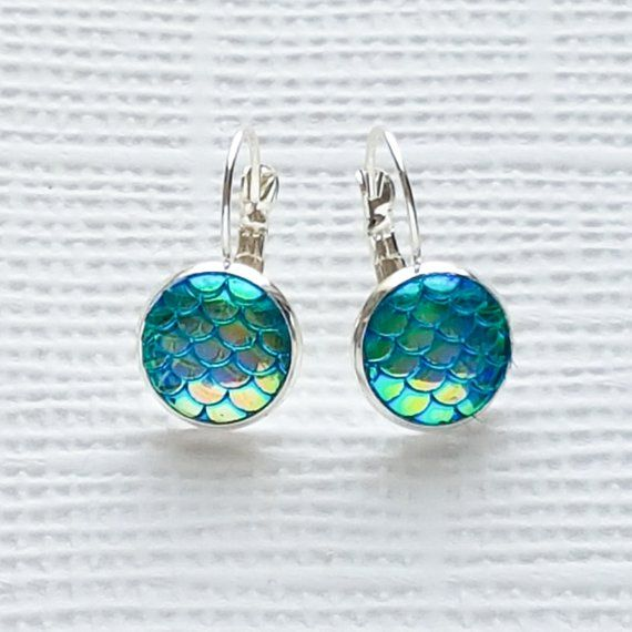 Mermaid / Dragon Scales Earrings - Sea Themed Jewellery