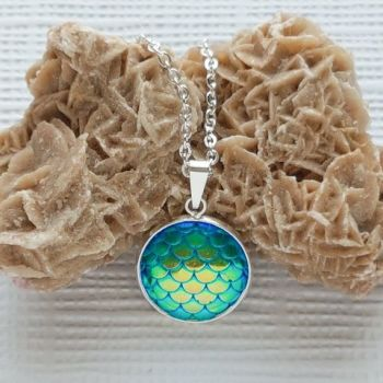 Mermaid / Dragon Scales Pendant -  Sea Themed Jewellery