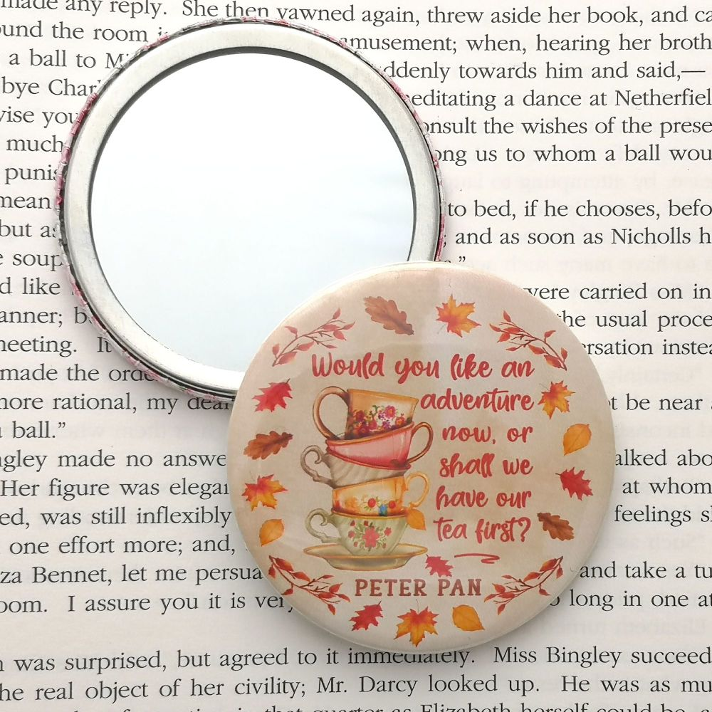 Peter Pan Tea Quote Autumn Themed Mirror