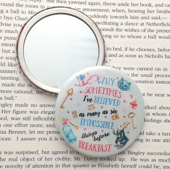 Alice in Wonderland Mirror, Six impossible things...