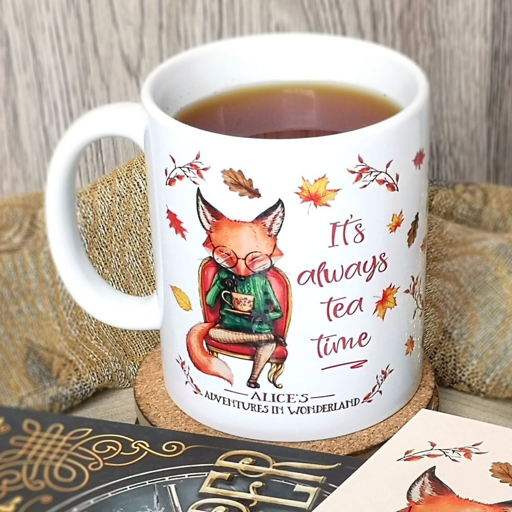 alice in wonderland fox mug