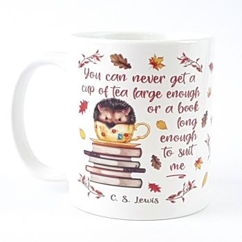 Hedgehog bookworm mug