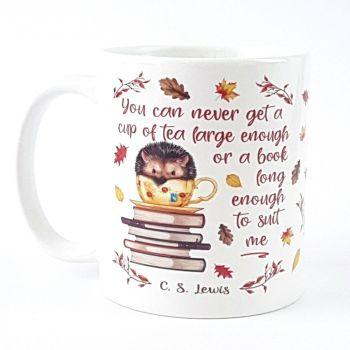 Hedgehog bookworm mug