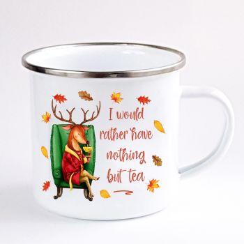 Deer enamel mug