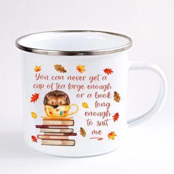 Hedgehog enamel mug