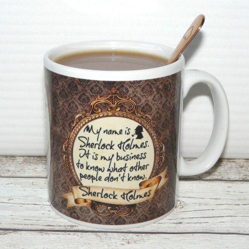 Sherlock Holmes Bookworm mug