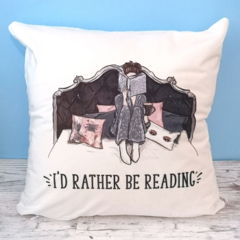 Bookworm Cushion Cover - I'd Rather Be Reading