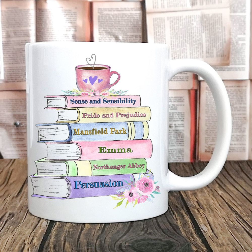 Jane Austen Book Novels Mug
